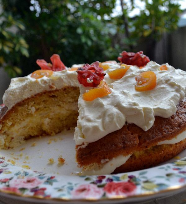 tourta cake portokali kai mousse giourti 4edited