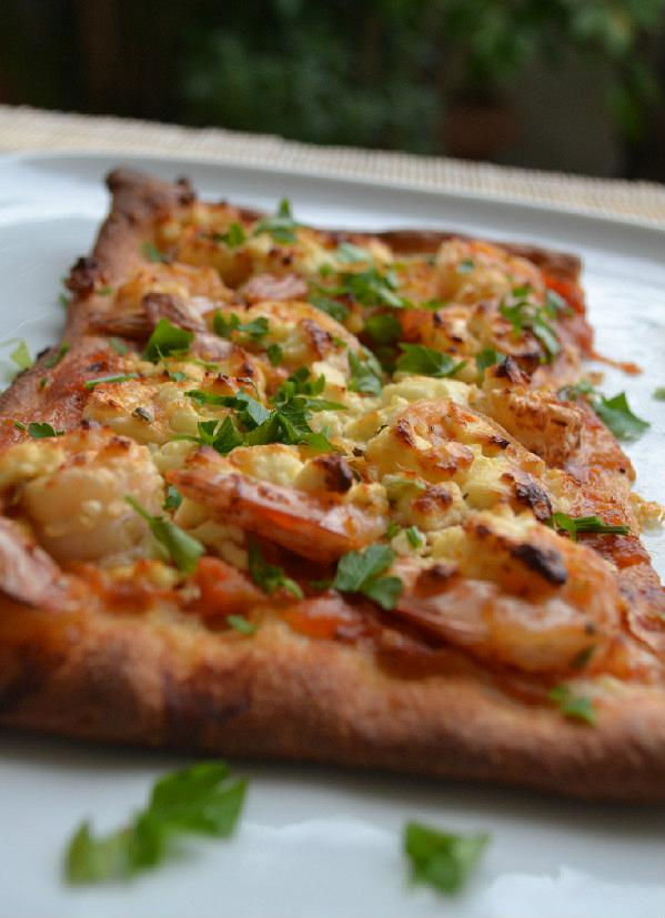 pizza garides saganaki edited